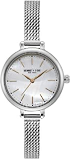 Kenneth Cole Women's Silver Dial Stainless Steel Band Watch - KC50065007