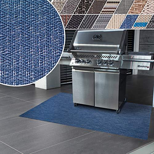 casa pura Tapis Extérieur Barbecue - Tapis de Cuisine | Tapis Terrasse PVC | Protection de Sol pour Terrasse, Balcon, Jardin | Ignifuge | Pisa - 90x120 cm