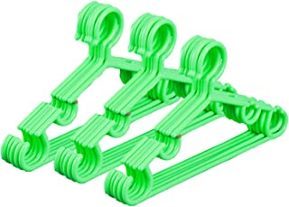 Kuber Industries Plastic 15 Pieces Baby Hanger Set for Wardrobe (Green) - CTKTC039431