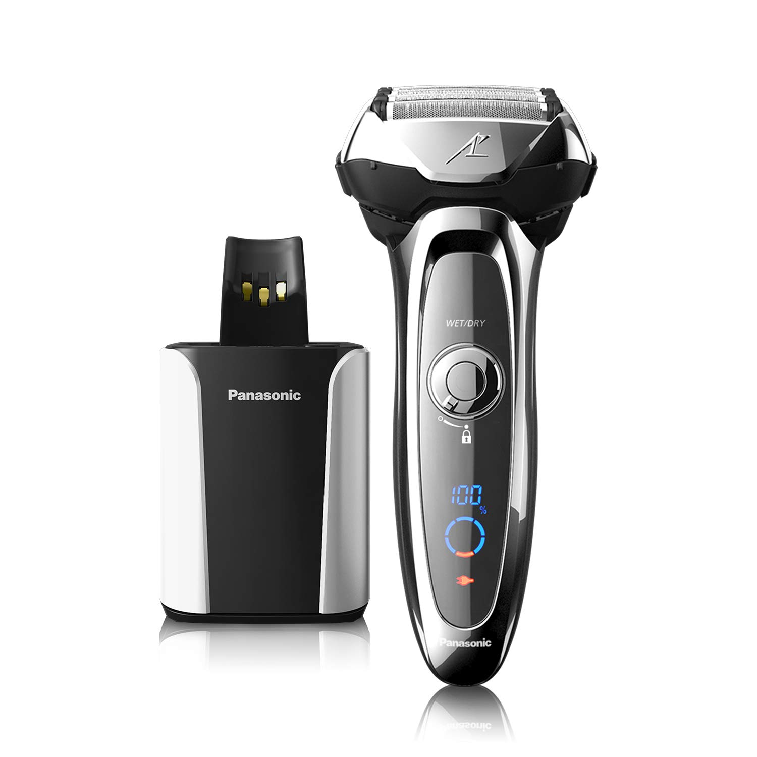 Panasonic ES-LV95-S Arc5 Wet/Dry Shaver with Cleaning and Charging ...