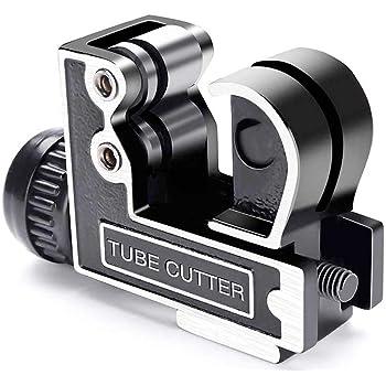 para hogar para tubos de pl/ástico PEX tubos de PVC Tipo profesional de una mano Cortes limpios y rectos Cortatubos para tubos y mangueras 0.32cm-3.3cm Flexzion Cortadora de tuber/ías Rojo