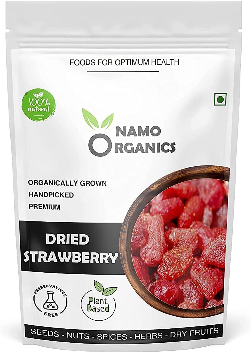 Trisha Namo Organics - Dried Quality inspection Popular overseas Gm 250 Glut Pouch Strawberries
