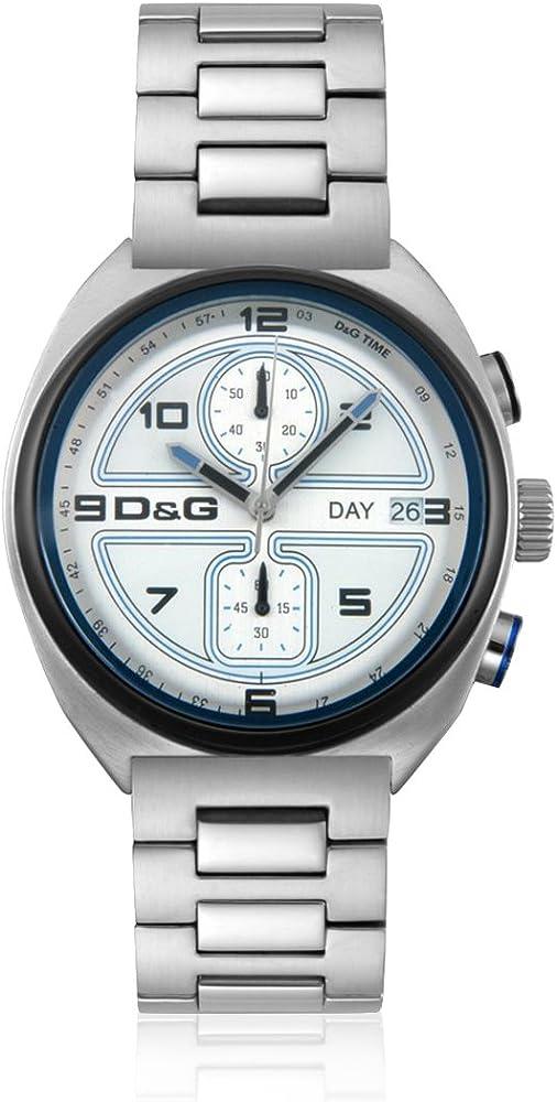 Dolce & gabbana orologio cronografo uomo in acciaio con quadrante multicole DW0301