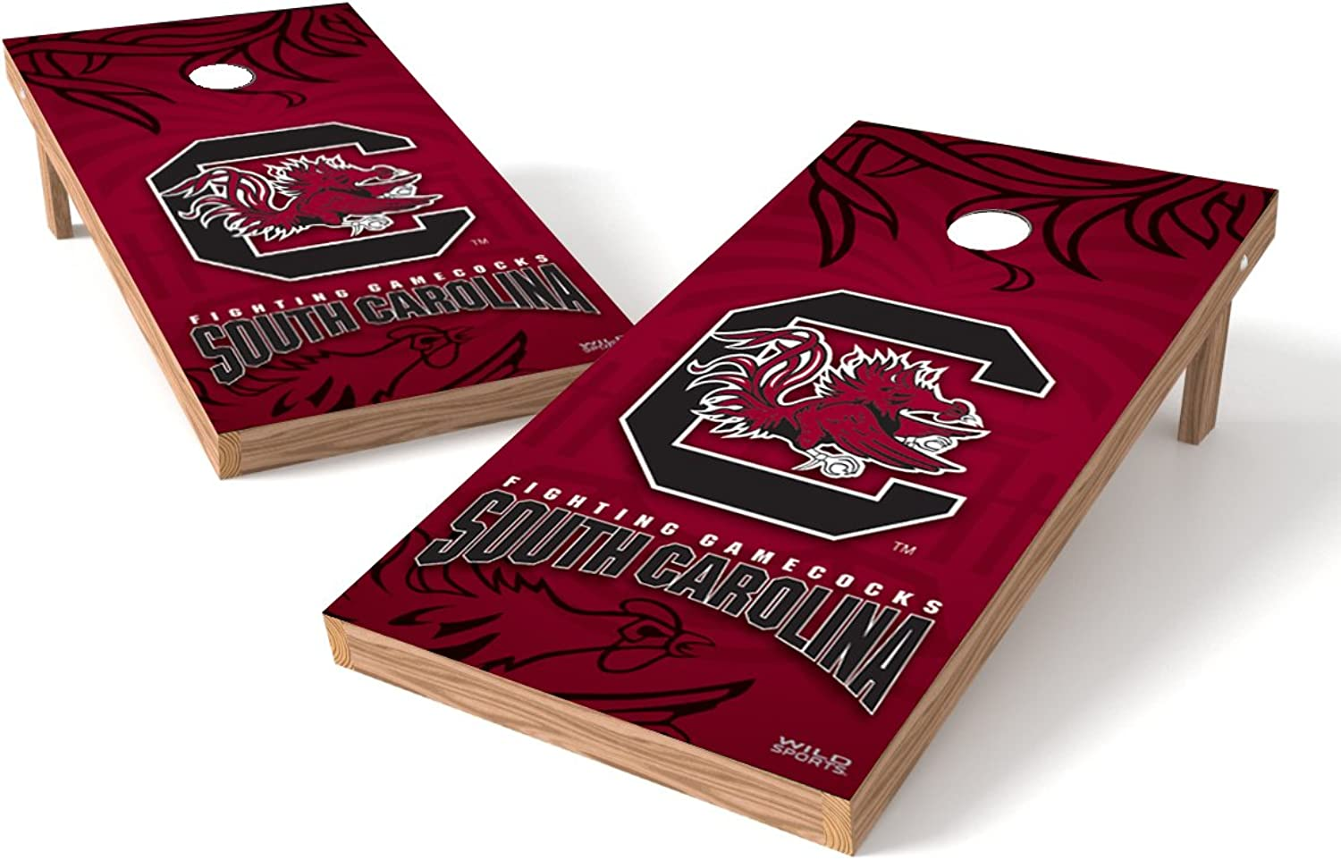 Wild Sports NCAA South Carolina Gamecocks 2' x 4' Authentic Cornhole Game Set