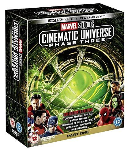 Walt Disney - Marvel Studios Cinematic Universe Phase 3 Part 1 (5 Films) 4K Ultra HD + Blu-Ray (1 BLU-RAY)