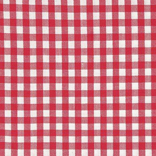 Scantex Tischläufer - Campos Framboise und weiß 45 x 150 cm, 100% Baumwolle - Vichy Kariert