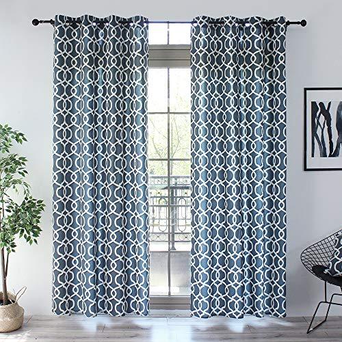 cortinas salon dibujos geometricos