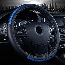 Labbyway Car Steering Wheel Cover Microfiber Leather Universal 15-inch,Anti-Slip,Odorless,Four Seasons Universal (Blue)