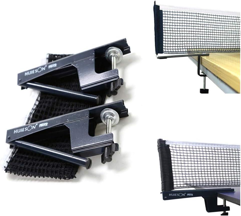 Filet de Tennis de Table ZAVAREA Set de Filet de Ping-Pong Tension et Hauteur R/églable Facile /à Installer Pince de Table de Ping-Pong Activ/ée par Ressort Professionnel avec Insert de Clip de Filet