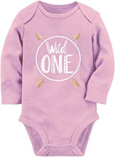 Tstars Wild One Baby Boys Girls 1st Birthday Gifts One Year Old Baby Long Sleeve Bodysuit