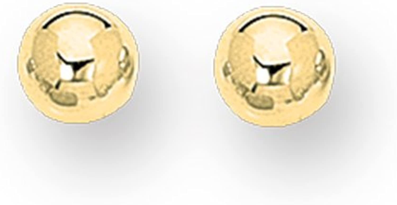 14K Yellow Gold 7mm Shiny Ball Post Earrings