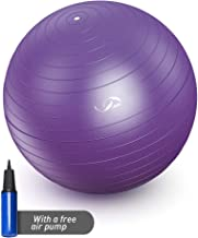 JBM Exercise Yoga Ball with Free Air Pump 400 lbs Slip-Resistant Yoga Balance Stability Swiss Ball for Fitness Exercise