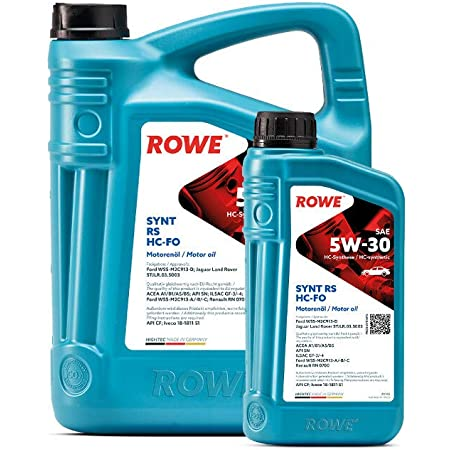 5 Litres Sae 5 W 30 Synthetic Rowe Hightec Rs Hc Fo Auto