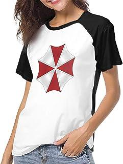 レディース T シャツ エコ BIOHAZARD 環境 保護 プリント トップス カジュアル ラウンドネック ファッション スポーツ 半袖Tシャツ