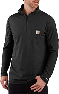 Carhartt Men's Force Relaxed Fit Long Sleeve Quarter Zip Pocket T-Shirt