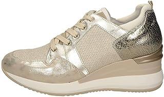 Nero Giardini - Sneakers con Zeppa Donna in camoscio e Tessuto - Platino P907520D 446 - P907520D 446