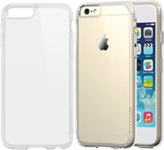 iPhone 6s Case Clear, LUVVITT [Clearview] Hybrid Scratch Resistant Back Cover with Shock Absorbing Bumper for Apple iPhone 6/6s (4.7) - Crystal Clear
