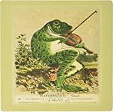 3drose LLC 20,3x 20,3x 0,6cm Frosch spielt Geige für Vintage Seife AD Mauspad (MP 101761_ 1)