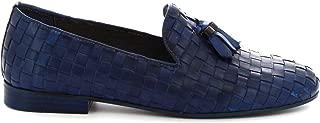 LEONARDO SHOES Luxury Fashion Womens 4980BLUE Blue Loafers | Season Permanent