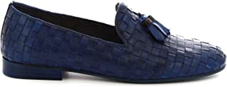 LEONARDO SHOES Luxury Fashion Womens 4980BLUE Blue Loafers   Season Permanent