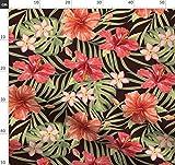 Hibiskus, Tropisch, Palme, Hawaii, Vintage, Retro Stoffe -