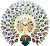 TBUDAR Decoración para el hogar Peacock Wall Crystal Deluxe Living Art Deco Wall Mule Mule
