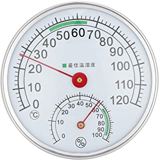 Sauna Temperature Humidity Meter Table Top or Wall Mounted, Sauna Room Thermometer Hygrometer Temperature Humidity Meter M...