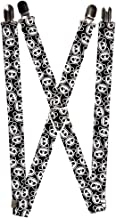 Cute Black and White Panda Bear Faces All Over Collage Suspenders
