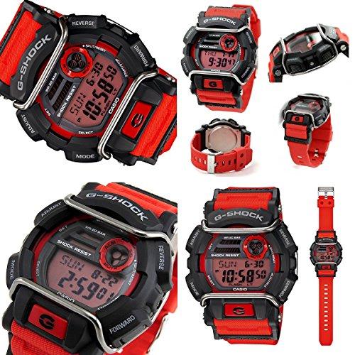 G-SHOCK Protector 200m防水 デジタル プラベルトウォッチ メンズ向ユニセックス(GD-400-1 GD-400-2 GD-400-3 GD-400-4 GD-400-9) (GD-400-4(レッドオレンジ))