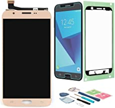 XR MARKET Compatible Samsung Galaxy J727 Screen Replacement, LCD Display Touch Screen Digitizer Assembly, for Galaxy J7 Sky Pro/J7 2017 SM-J727A J727T J727T1 J727V J727P(NOT for J7 Prime G610) Gold