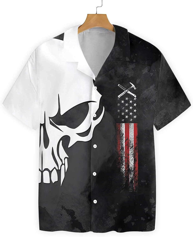 Golden Store US Regular store - Roofer Skull Proud Hawaiian Shirt All stores are sold