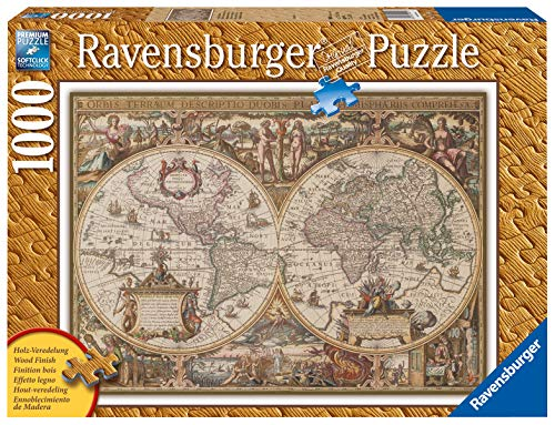 Ravensburger Puzzle, Puzzle 1000 Piezas, Mapamundo Antiguo, Puzzles para Adultos, Puzzle Mapamundi, Rompecabezas Ravensburger de Alta Calidad