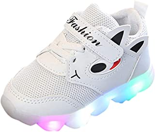 Toddler Baby Girs Boys Luminous Sport Shoes Boots,Outsta Infant Children Outdoor Shoes Anti-Slip Shoes Soft Sole Sneakers (White, US:7.5(Age:3-3.5T))