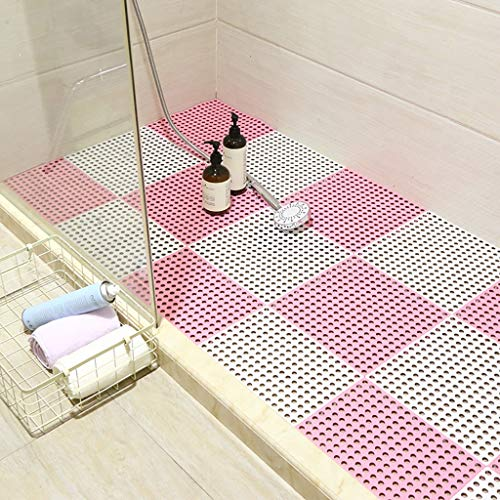 Review Of Bath mats antiscivolo Absorbent Floor Mat Stitching Shower Room Bathing Water Hollow Plast...