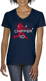 Navy Atlanta Chipper Jones Air Ladies V-Neck