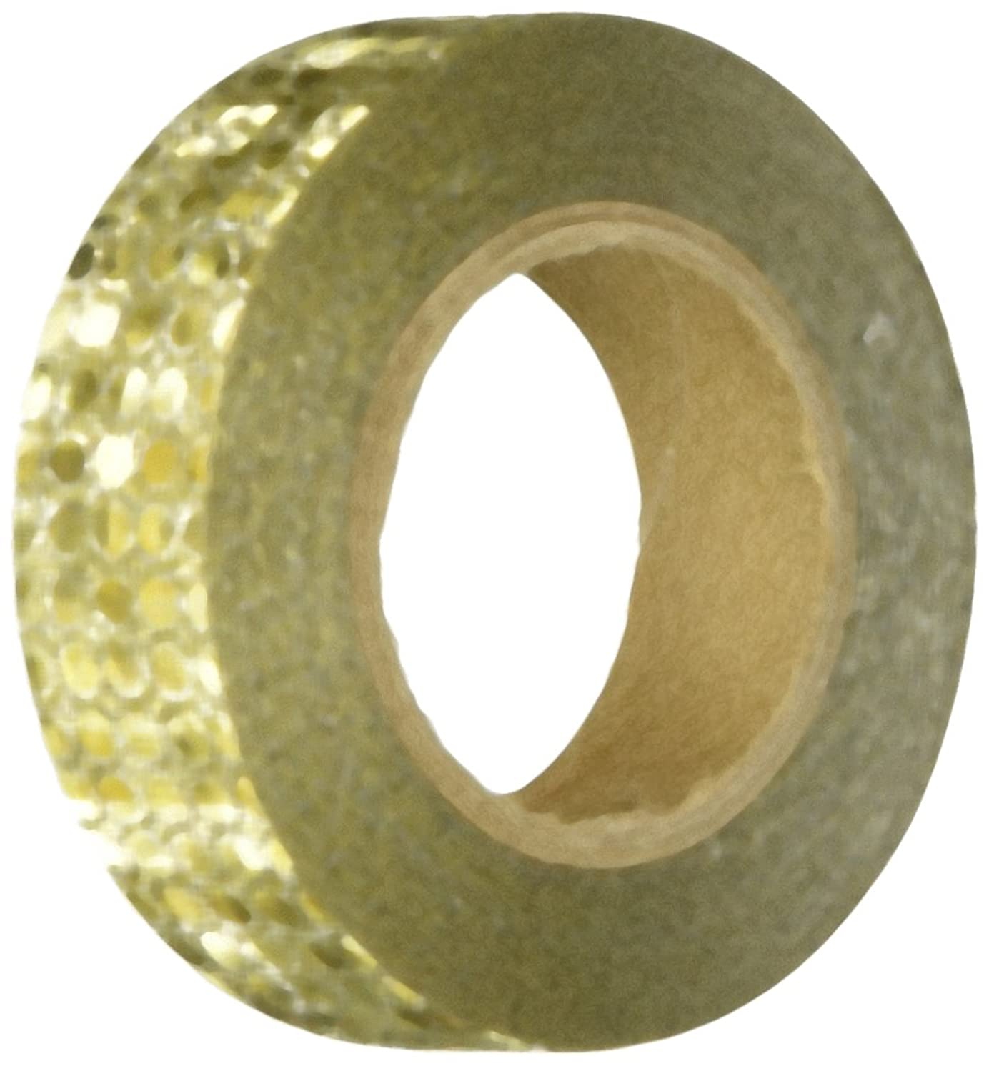 Wrapables Colorful Patterns Washi Masking Tape, Reflective Gold Bubbles