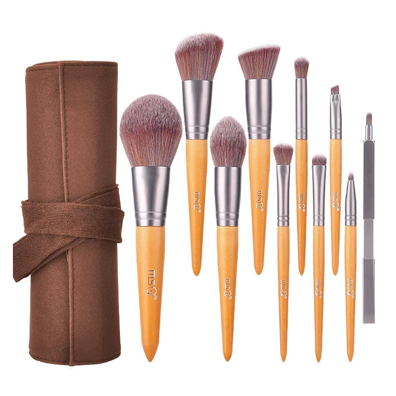 10 Makeup Brush Sets - Eyeshadow Mascara Foundation Liquid Foundation Concealer Brush Beginner Makeup Tool With Leather Storage Bag