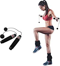 Ueasy Weighted Ropeless Jump Rope Length Adjustable Skipping Rope Tangle Free No Fray No Hurt No Tripping for You and Your Children
