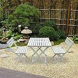 Keinode Gartenmöbel Essgruppe aus vorgeöltem Tannenholz mit 2 Sitzplätzen, 1 Tisch und 2 Stühlen für Terrasse Balkon Garten Camping Bar Bistro