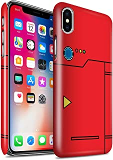 Gloss Phone Case for Apple iPhone X/10 Anime Cartoon Codex Red Design Glossy Hard Snap On Cover