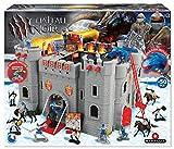 STARLUX MBI Fort-Caballeros y Soldados El Castillo, 404002, Gris, Negro, Rojo, Azul