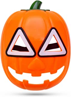 LED Light Up Pumpkin Mask Glowing Mask for Halloween Party Cosplay Decorations Yellow