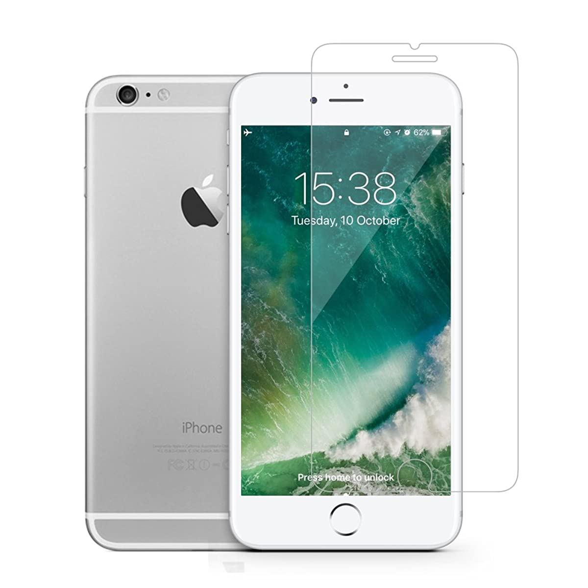 GLASS-M Screen Protector for Apple iPhone 8, iPhone 7, iPhone 6s, iPhone 6, Tempered Glass Film with Lifetime Replacement Warranty