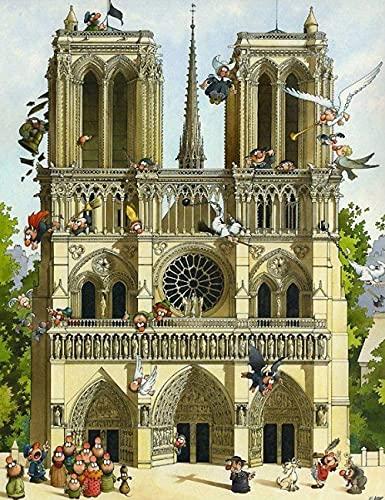 Dervom 1000 piece jigsaw Notre Dame de Pari jigsaw puzzles jigsaw game for kids home wall decoration-Paper
