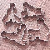 4er-Set Kreative Edelstahl Plätzchen Scherblock Form Kuchen Biskuit Gebäck Backform
