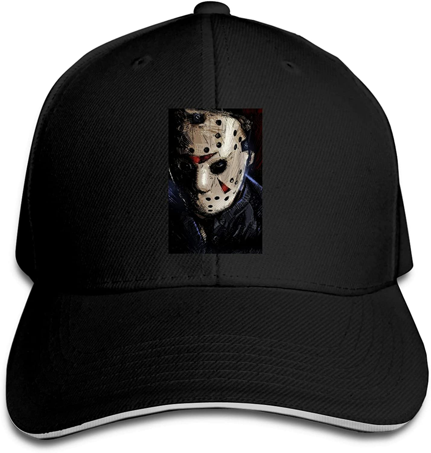 Vieoinas Bclghy Unisex Jason Voorhees Casquette Old Wash Old Baseball Cap Free Adjustment Cap Cowboy Hat