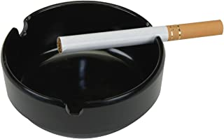 Thirsty Rhino Fuma Round Plastic Tabletop Cigarette Ashtray Black (Set of 4)