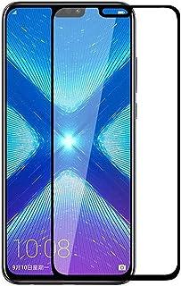 شاشة حماية زجاجية كاملة 5D لهاتف هواوي Y9 2019 ، لصق كامل بتقنية ال 9H الغير قابلة للكسر او الخدش - اسود