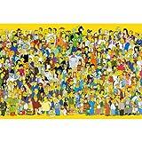 Rompecabezas De Madera Simpsons 300500 1000 1500 Piezas De Dibujos Animados Anime Lindo Adulto Descompresión Juguete Educativo para Niños Regalo(Color:F,Size:500pc)