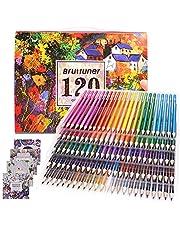 Kredki, dla dorosłych, kolorowanka, artysta, zestaw 120 kolorów ołówków, dla artystów, dzieci, szkicowników, studentów, kolorowanie rysunku, z 4 kolorowankami, prezent